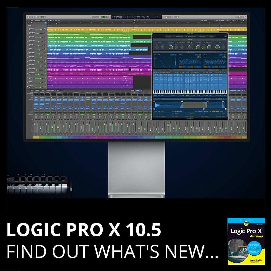 UPDATE: Logic Pro X 10.5! This is a big one! Find out what's new here: https://logicstudiotraining.com/logic-pro-x-10-5-update/